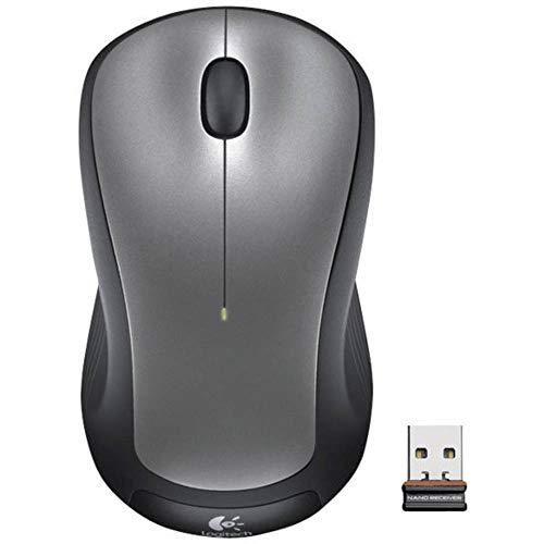 Logitech M310 Kabellose Maus, 2.4 GHz Verbindung via Nano-USB-Empfänger, 18-Monate Akkulaufzeit, 3 Tasten, PC/Mac/Chromebook - Silber