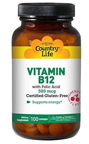 La vitamina B12, sublingual, Sabor a cereza, 500 mcg, 100 pastillas - Vida en el campo