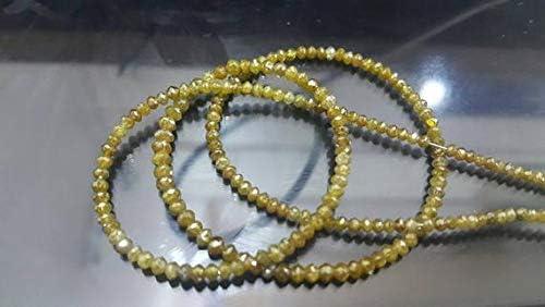 GEMS-WORLD Beads Fort Worth Mall Gemstone 25% OFF 15.25 Diamond Inches Champagne Yellow