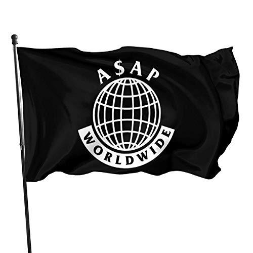 rainbowpig A-Sap Rocky Worldwide Flagge Lebendige Farbe und UV-Lichtbeständigkeit mit Messingösen 3 x 5 Fuß 3x5 \'\' Flagge