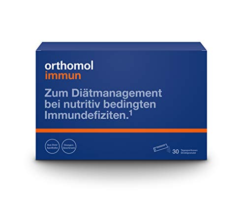 Orthomol Immun 30 Orange Granules - Vitamin-Trace Element Complex - Supports The Immune System