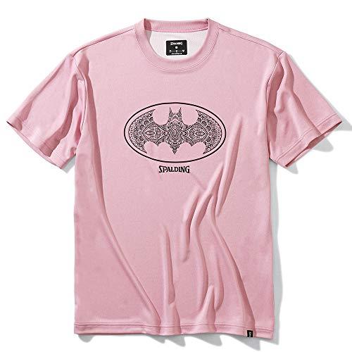 SPALDING(スポルディング) バスケットボール Tシャツ バットマン ダマスクロゴ SMT200480 ヘザーピンク Sサイズ バスケ バスケット