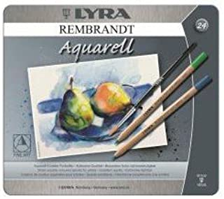 Rembrandt Aquarell Pencil Set - 24 Assorted Colours In A Metal Box