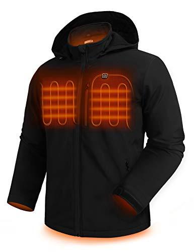 HOTOUCH Coats for Men Heated Jacket Zipped Rain Coat Thermal Clothing Fishing Active Jacket