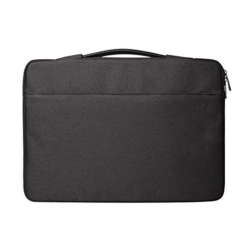 14.1 Pulgadas Funda Protectora Bolsa para Notebook Tablet iPad Tab Función Protectora Impermeable Resistente a Golpes con Accesorio de Bolsillo,Negro