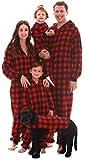#followme Family Pajamas Buffalo Plaid Microfleece Mens Adult Onesie 6754-10195-M