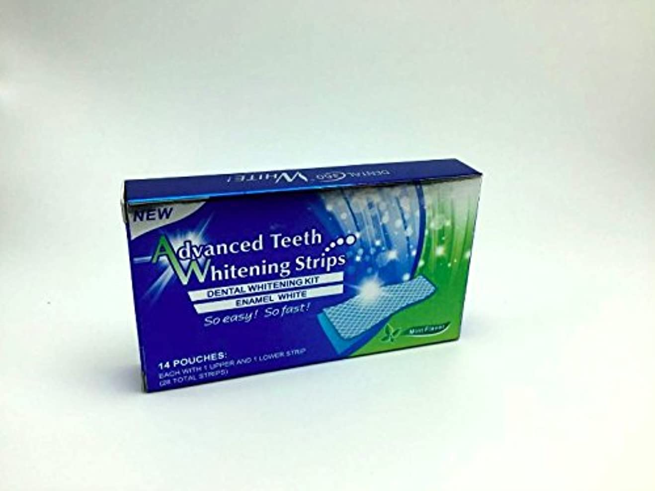 郵便局作曲する眉をひそめるホワイトニング ストライプ Advanced Teeth Whitening Strips 白い歯
