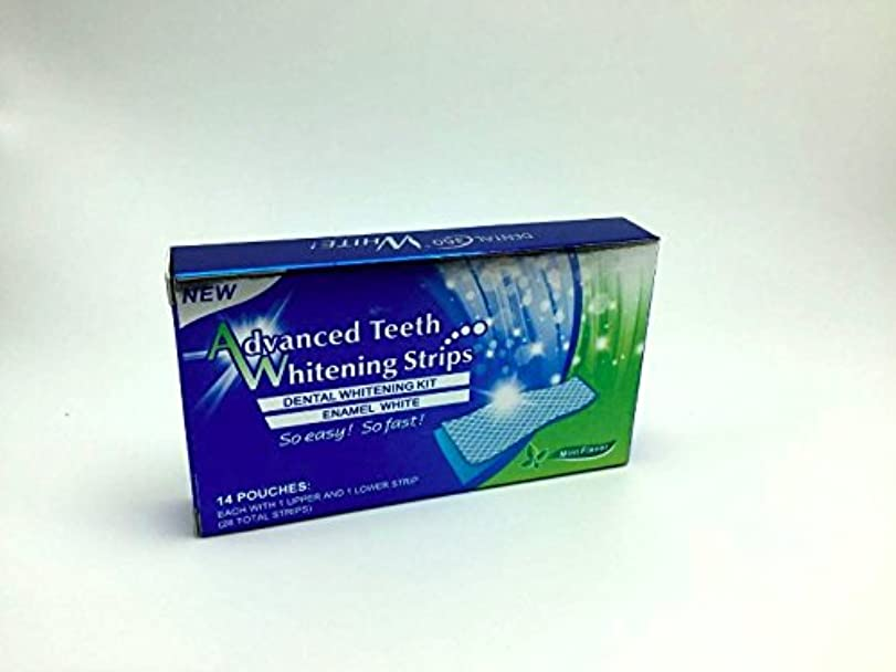 を必要としています予定ぬるいホワイトニング ストライプ Advanced Teeth Whitening Strips 白い歯