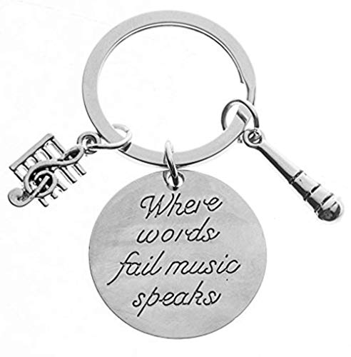 Music Speaks Keychain