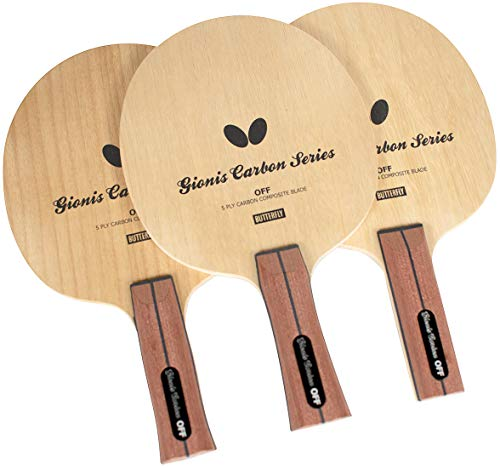 Butterfly Gionis Carbon Off Table Tennis Blade - Professional Table Tennis Blade - Available in an, FL, and ST Handle Styles - Perfect for Controlled Attacks