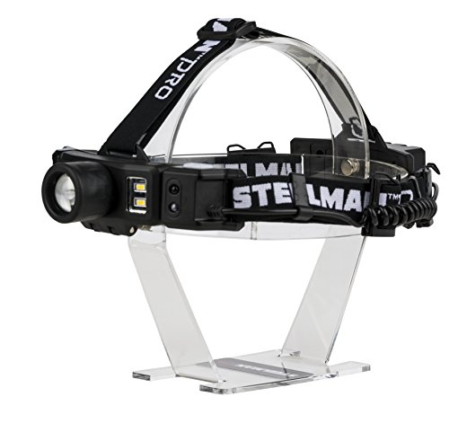 Steelman Pro Rechargeable Focusing Spotlight Headlamp, Motion-Sensing, Rear Safety Light, Pivoting Head, Up to 260 Lumens of Brightness