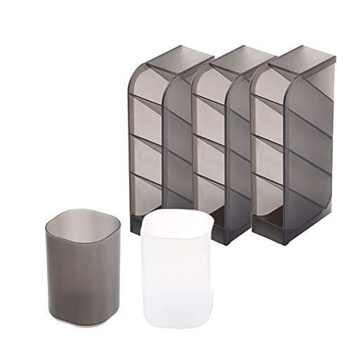 ペン スタンド 卓上小物入れ 斜め 挿入 筒 型 タイプ ペン 立て 文具収納 事務用品収納 デスクの整頓に便利 5個セット