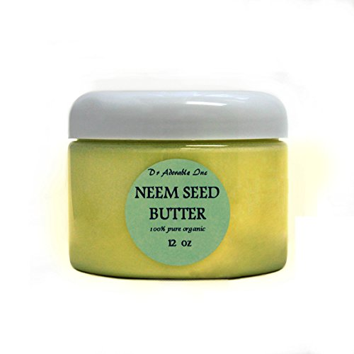 Neem Seed Butter Pure Organic Cold Pressed Unrefined Skin Recovery Relief Healing 12 oz