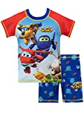 Super Wings Bañador de Dos Piezas para niño Jett Donnie y Jerome Multicolor 18-24 Meses