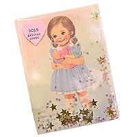 Afrocat Paper Doll Mate Daily Diary 2019 キラキラ スケジュール日記 カレンダー ノート メモ (ブルー(アリス)