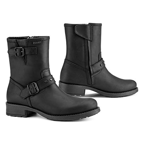 Falco Damen Stiefel Dany 2 schwarz wasserdicht mit Protektoren, 39