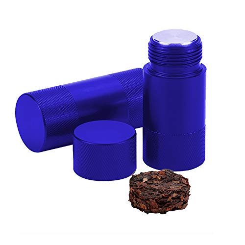 Spespo Aluminium-Pollenpresse, Kompressor, Kräutermühle, Gewürzzerkleinerer, 6,1 x 2 cm, Lippenstift-Design (blau)