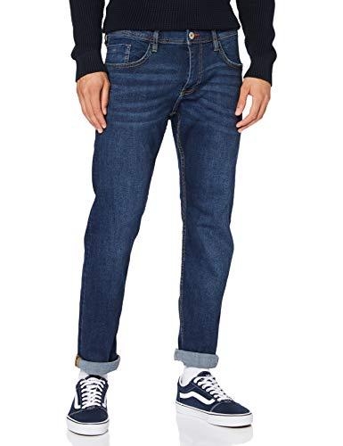 edc by Esprit Herren 990CC2B302 Straight Jeans, 901/BLUE Dark WASH, 34W / 32L