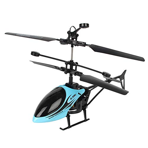 FeiWen Helicopter Remote Senza Fili Elicottero Remoto Elicottero Giocattolo per Bambini (Blu)