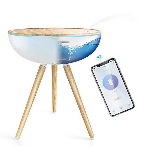 Difusor Aromaterapia WiFi, Maxcio Humidificador Ultrasónico 1000ml, Difusor Aceites Esenciales 3 Modos de Nieble Compatible Con Alexa y Google Home para Hogar, Oficina, Bebé