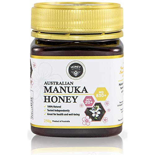 Honey Australia Premium Manuka Honey – Raw Pure MGO 830+ NPA 20+ Rich Tasting Medicinal Grade Certified Manuka Honey For Everyday Health 8.8 Oz / 250 g