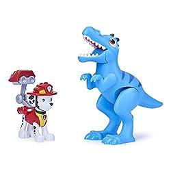7. Paw Patrol Dino Rescue Marshall and Velociraptor