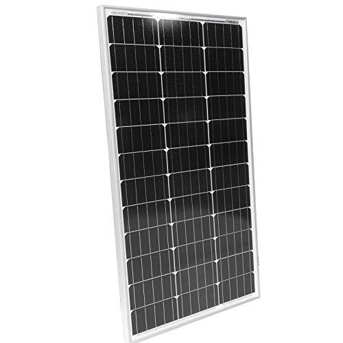 Panneau Solaire Monocristallin - Photovoltaïque, Silicium, 50/100/130/150/165 W, Câble avec Connecteur MC4, 12 V - Module Solaire pour Camping-Car, Caravane, Bateau, Yacht, Jardin (100 W)