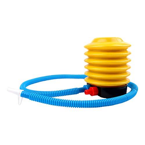 HomeDecTime Tragbare Blasebalg/Fußpumpe/Luftpumpe für Luftmatratze Gymnastikball Luftballon