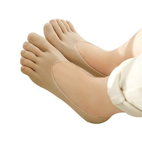 Ablita Zehenspreizer Socken Orthopädische Kompressionsstrümpfe Damen-Zehensocken Ultra Low Cut Liner mit atmungsaktivem Viskose-Tab Die sanfte Entspannung bei Hallux Valgus und Zehenfehlstellungen