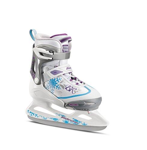 Rollerblade Bladerunner Kids Ice Skates, White/Blue, Size 5-8