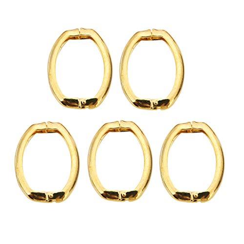 chiwanji 5 Stü Trigger Spring Gate Schnalle Snap Clip Schlüsselring Offen Ovalen Ring Für Schlüssel - Golden