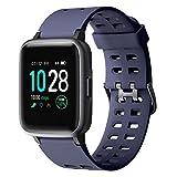 YAMAY Smartwatch,Fitness Armband Uhr Voller Touch Screen Fitness Uhr IP68 Wasserdicht Fitness Tracker Sportuhr mit Schrittzähler Pulsuhren Stoppuhr für Damen Herren Smart Watch für iOS...