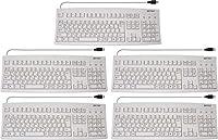 BUFFALO USBキーボード JIS配列 日本語キーボード 有線 109キー 箱潰れ特価 BSKBU01LG 5台セット グレー