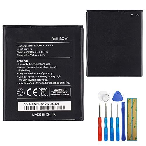 E-yiiviil Batería de repuesto WIKO Rainbow compatible con Wiko Rainbow Jam 3g Lite 4g Barry Bloom Bulk with Tools
