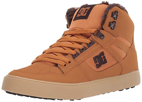 DC Men's Pure HIGH-TOP WC WNT Skate Shoe, Brown/Chocolate, 10 M US