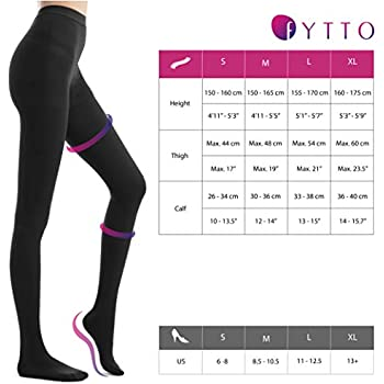 Cheap Sports Fytto 1026 Medical Compression Pantyhose 15 20 Mmhg Graduated Compression Support Tights Class 1 Flight Stockings Men Women Smooth Knit Relief For Varicose Veins And Travel Extra Large Compare Prices