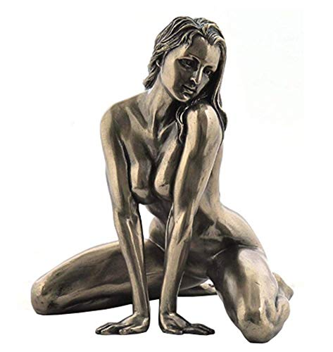 5 Inch Figure Female Nude on Floor Straddling Arm Display Decor