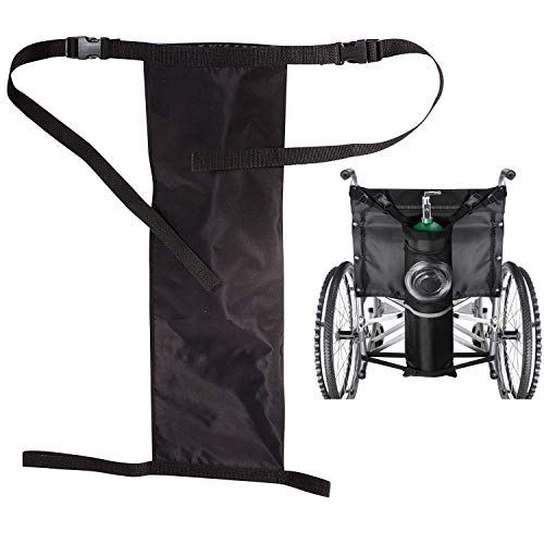 GHzzY Träger für Sauerstoffflaschen passt auf einen Rollstuhl - Sauerstoffflaschenbeutel - Rollstuhl-Sauerstofftankbeutel für D - und E -Flaschen