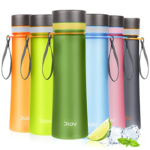 AOHAN Trinkflasche 1L Wasserflasche, BPA-frei Geruchlos Auslaufsicher Sportflasche Trinkflasche Sport, Farben voller Vitalität,für Sport, Fitness,Yoga, Gym, Fahrrad, Outdoor