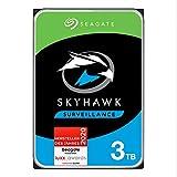 SeagateSkyHawk, interne Festplatte 3 TB HDD, Videoaufnahme bis zu 64 Kameras, 3.5 Zoll, 64 MB Cache, SATA 6 Gb/s, silber, FFP, inkl. 3 Jahre Rescue Service, Modellnr.: ST3000VXZ09
