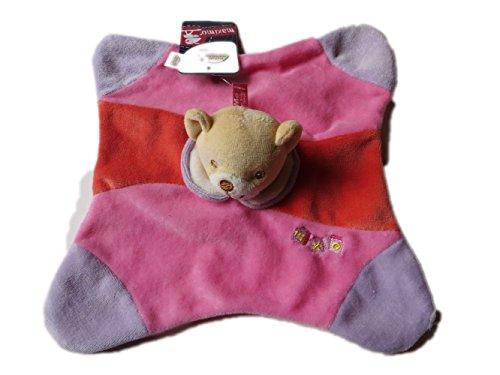 MaxiMo Kuscheltuch Teddy mit Rassel fuchsia pink