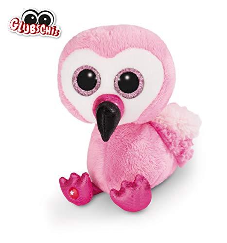 Nici Glubschis Kuscheltier Flamingo Fairy-Fay 15cm, Plüschtier mit großen Glitzeraugen 45557, pink/weiß