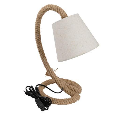 Stehlampe Tischlampe Nachttischlampe Seil Lampe Taulampe Hanfseil 35 cm Unikat