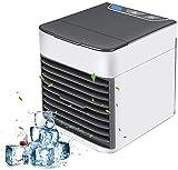 GXT Mini refrigerador evaporativo, Aire Acondicionado Personal Mini, 3 velocidades del Viento Humidificación de refrigeración Purificación de Aire para Oficina, hogar, Dormitorio, Viajes Frio