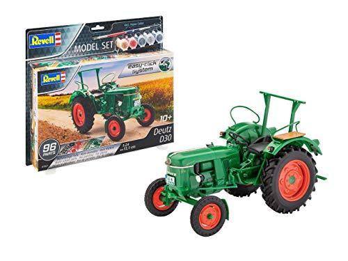 Revell easy-click 67821 Model Set Deutz D30, Traktormodell, 1:24/13,1cm Modellbausatz für Einsteiger mit dem Easy-Click-System, mit Basis-Zubehör, farbig, 1/72