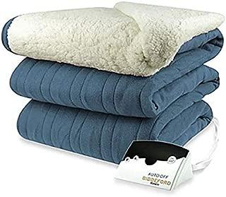 Biddeford 2064-9052140-500 MicroPlush Sherpa Electric Heated Blanket King Denim