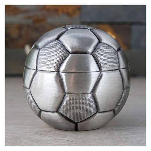 Yanqhua Hucha Caja de Dinero del Regalo de cumpleaños Cash Box Hucha de Creative Fútbol Pot Metal del Arte Decoración de Interiores Niños (Color : A)