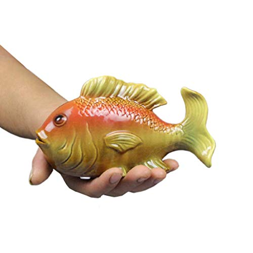 Huchas Carp Money Bank, Ceramics HOTGY Bank Creatividad Puede SALDAR HIGHTHERS, ADNELES DE Lucky Band DE Moneda DE Regalo Caja de Monedas (tamaño : Pequeño)
