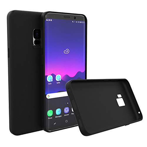 Brand.it Monkey – Carcasa de silicona TPU para Galaxy S9, ultrafina, ultrafina, inalámbrica, color negro mate
