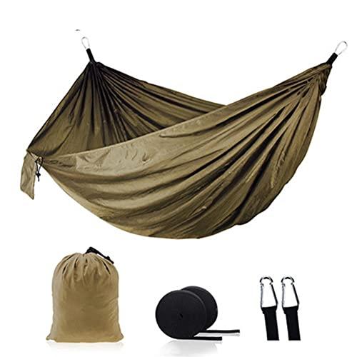 Ocuhiger Hamaca De Viaje Ultraligera Cama Portátil Camping Acampar Jardín Al Aire Libre Senderismo Playa Contraste De Color para Dos Personas 270x140cm